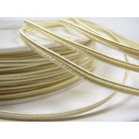 Sutage strip Pega A1901 light yellowish (pastel) colour 3 mm wide 100% viscose Country of origin Czech Republic