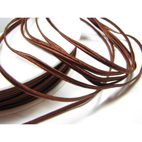 Сутажная полоска Pega A7901 коричневая шириной 3 мм 100% вискоза Страна производитель Чехия