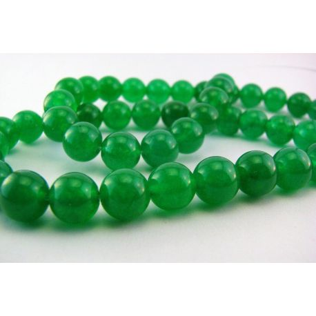 Nefrito karoliukai žalios spalvos apvalios formos 8mm