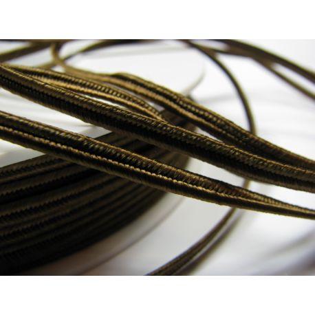 Сутажная полоска Pega A7902 коричневая шириной 3 мм 100% вискоза Страна производитель Чехия