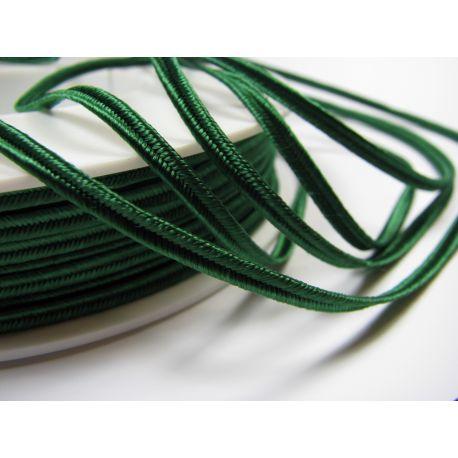 Сутажная полоска Pega A7801 ярко-зеленая шириной 3 мм 100% вискоза Страна производитель Чехия