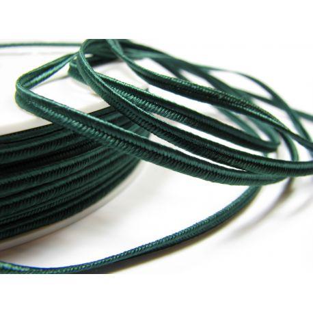 Sutage strip Pega A7802 dark green 3 mm wide 100% viscose country of origin Czech Republic