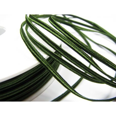 Сутажная полоска Pega A7803 насыщенно-зеленая шириной 3 мм 100% вискоза Страна производитель Чехия