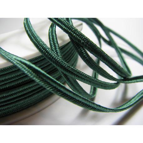 Сутажная полоска Pega A4801 темно-зеленого цвета шириной 3 мм 100% вискоза Страна производитель Чехия