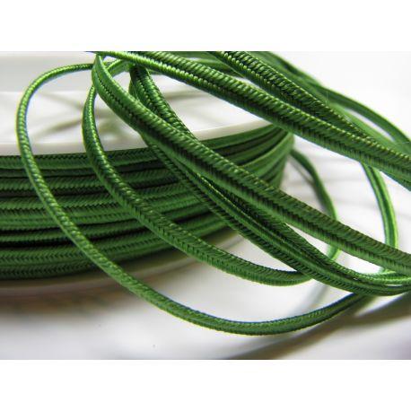 Sutage strip Pega A4802 bright green color 3 mm wide 100% viscose country of origin Czech Republic