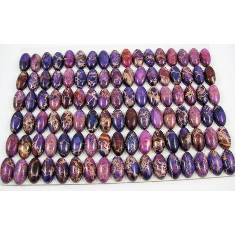 Imperiālā jaspio cabochon violeta 10x20x5 mm