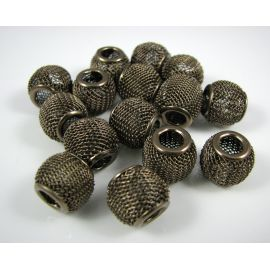 Metal Mesh beads 12x10 mm, 1 pcs.