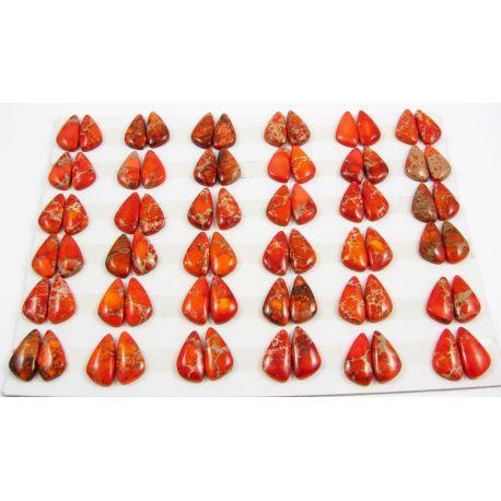 Imperial jaspio cabochon orange10-12x19-22x4 mm