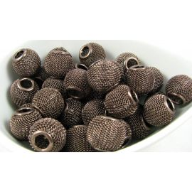 Metal Mesh beads 14x12 mm, 1 pcs.