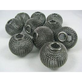 Metal Mesh beads 30x25 mm, 1 pcs.