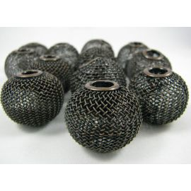 Metal beads, dark copper color, 25x22 mm, 1 pcs.
