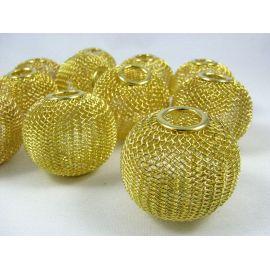 Бусины металлические, цвет золото, 30х25 мм, 1 шт.