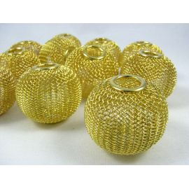 Metal beads, gold color, 30x25 mm, 1 pcs.