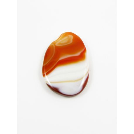 Agate pendant white - orange drop shape variegated