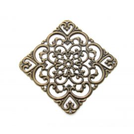 Openwork plate, send. bronze, 40 mm