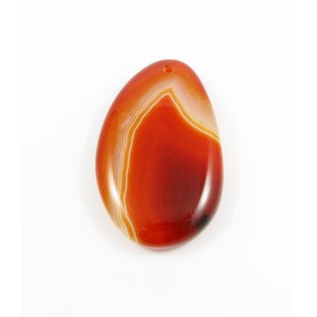Agato akmeninis pakabukas oranžinės spalvos lašo formos