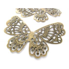 Openwork plate, send. bronze, butterfly shape, 63 mm