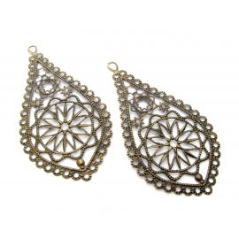 Openwork plate, send. bronze, drop shape, 65 mm