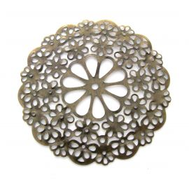 Openwork plate, send. bronze, round shape, 56 mm