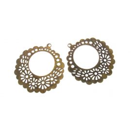 Openwork plate, send. bronze, round shape, 62 mm