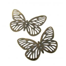 Openwork plate, send. bronze, butterfly shape, 61 mm