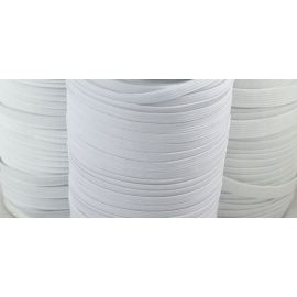 Elastic band - rubber, white, 9 mm wide, 1 m.