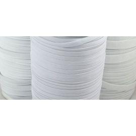 Elastinė juostelė - guma, baltos spalvos, 9 mm pločio, 1 m.