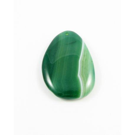 Ahāta kulons zaļš raiba piliena forma 60-63x39-40x9 mm