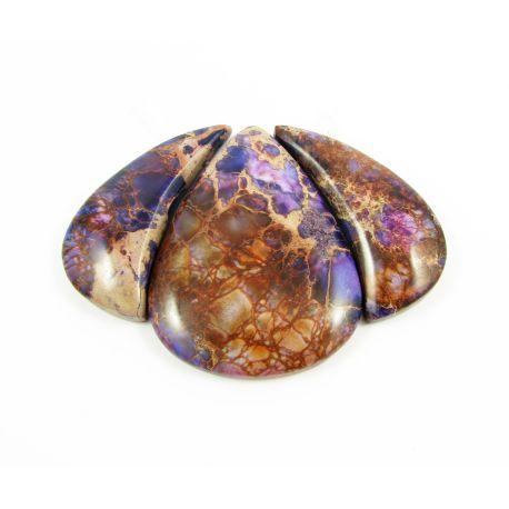 Imperial jaspi pendant set in purple drop shape