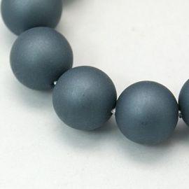 SHELL pearl beads 10 mm, 10 pcs.