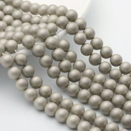 SHELL pearl beads 10 mm, 10 pcs.