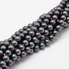 SHELL perlų karoliukai 6 mm, 10 vnt.