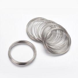 Plieninė viela su atmintim apyrankei 60 mm, 10 žiedų