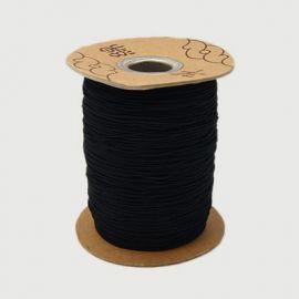 Tvirta trikotažinė gumutė, juodos spalvos 1.00 mm storio 1 metras