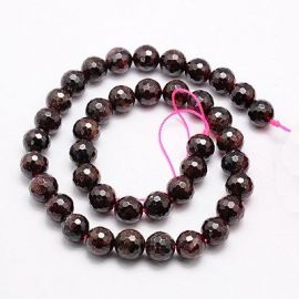 Natural Pomegranate Bead Thread 8 mm