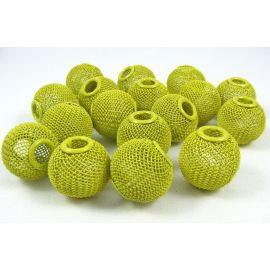 Бусины металлические, желтые, 20х18 мм, 1 шт.