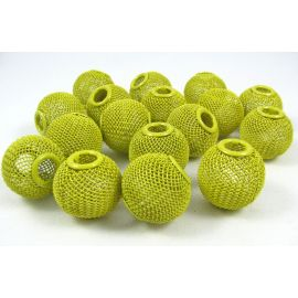 Metal beads, yellow, 20x18 mm, 1 pcs.