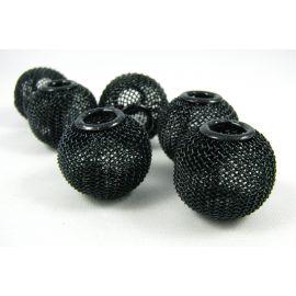 Бусины металлические, черные, 20х18 мм, 1 шт.