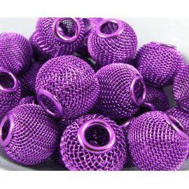 Бусины металлические, фиолетовые, 16х14 мм, 1 шт.