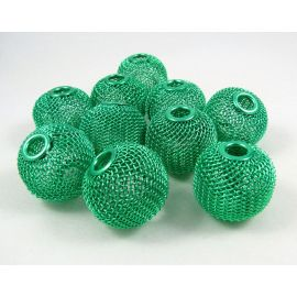 Metal beads, green, 25x22 mm, 1 pcs.