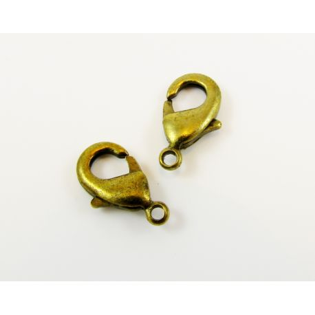 Bronze clasp for jewelry making 12x7 mm
