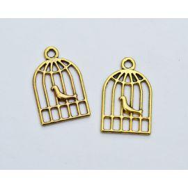 "Pendant ""Bird cage"" 19x12 mm., 1 pcs."