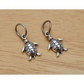 """Pendant """"Turtle"""" with ring 16x12 mm., 1 pcs."""