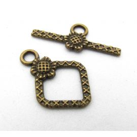 Necklace clasp 21x16 mm., 1 pcs.