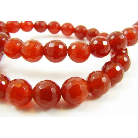 Agate stone beads ribbed round shape 8 mm