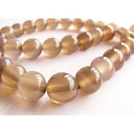 Agate beads gray round shape 8mm