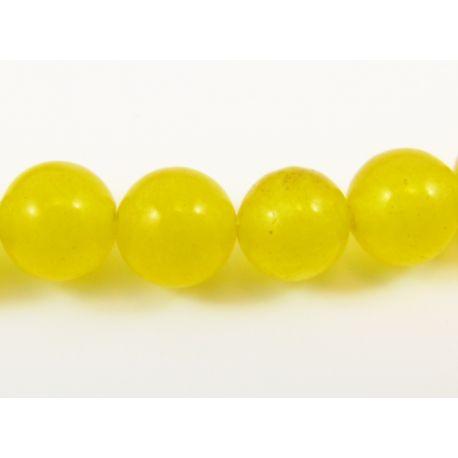 Akmeniniai karoliukai geltonos spalvos apavalios formos 4 mm