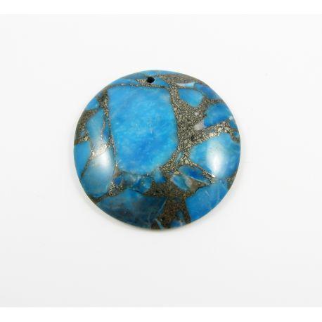 Opalo akmeninis pakabukas mėlynos spalvos 43x43x7 mm