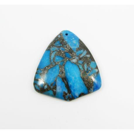 Opalo akmeninis pakabukas mėlynos spalvos 41x46x7 mm