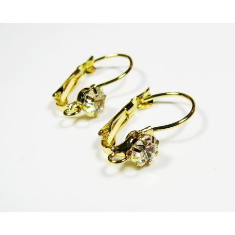Āķi auskaru izgatavošanai, zelta krāsa 24x13 mm
